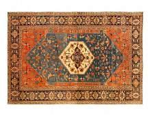 Light Blue Persian Antique Serapi 13' X 18'9''