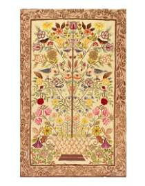 ANTIQUE AMERICAN HOOKED RUG 4'7'' X 7'4''