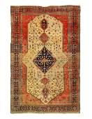 Ivory Fine Persian Antique Farahan 6'9'' X 10'
