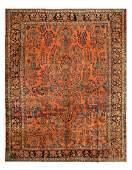 Rust Persian Antique Sarouk 10' X 13'