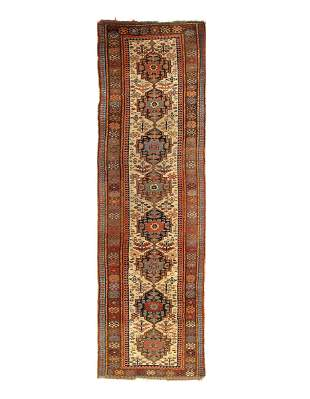 Ivory color Persian Antique NW Runner 3'11'' x 13'4''