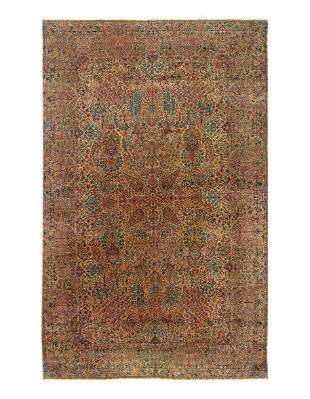 Antique Lavar Kerman Persian Rug 10' x 16'