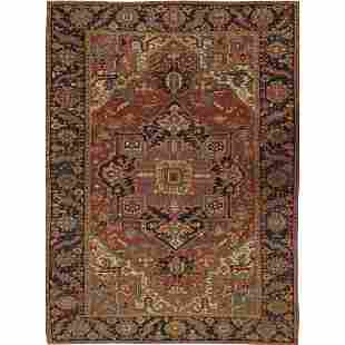 "Antique Persian Heriz Rug - 8'8"" x 11'10"""