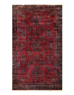 "Antique Persian Kashan Rug - 8'6"" x 13'10"""
