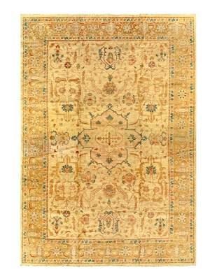 Beige Fine Zieglar sultanabad design 12'6'' x 17'11''