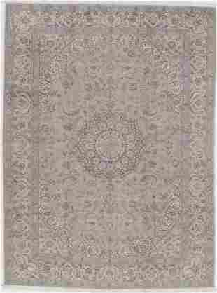 "Gray Persian Nain Silk & wool 6 LA 9'9""x13'2"""