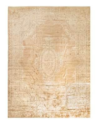L Brown Persian Antique Kerman 14'6'' x 20'