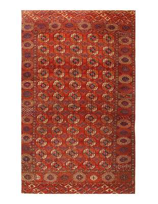 """Late 19th Century Antique Russian Tekkeh - 7'1"""" x 11'9"""""""