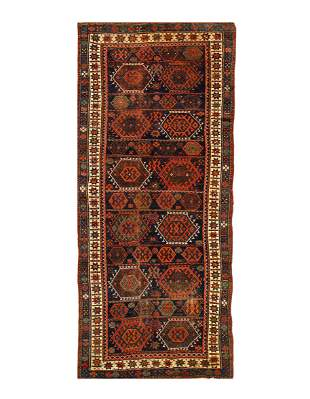 Navy Blue Antique NW Persia  4'11'' x 10'4''