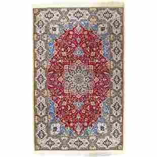 "Persian Nain Silk & Wool Pile - 4'3"" x 6'7"""