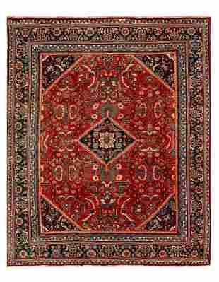 Rust Persian Antique Mahal Rug 10'11'' x 13'9''