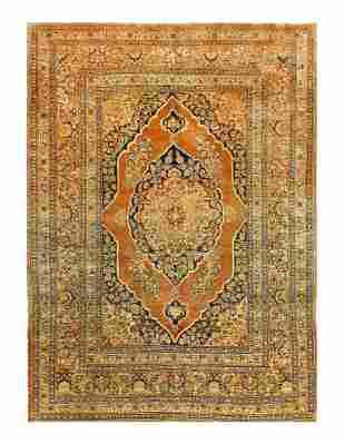 Rust Persian Antique Tabriz 4'1'' x 5'6''