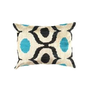 TI 127 Decorative Throw Velvet Ikat Pillow
