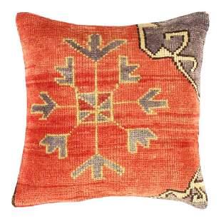 Vintage Turkish Pasargad Rug Pillow