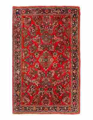 Fine Persian Antique Sarouk 4'3'' X 6'7''