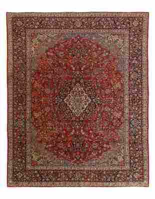 Fine Persian Antique Kashan 8' X 9'11''