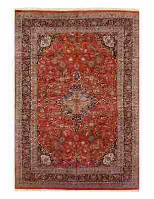 Rust Fine Hand-Knotted Kashan design 12' X 17'
