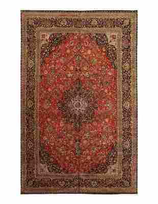 Rust Persian fine Kashan Desigan 10' X 16'