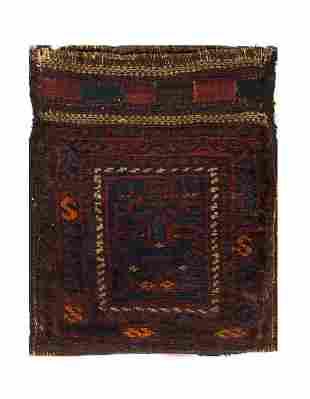 Vintage Persian Shiraz saddle bag 1'6'' X 1'11