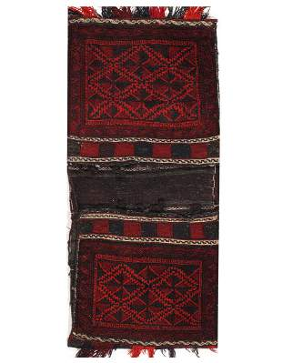 Vintage Persian Shiraz saddle bag 2'5'' X 5'