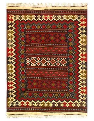 Multi Fine Vintage Bakhtiari Rug 4'11'' X 6'6''