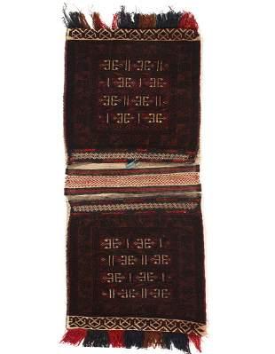 Vintage Persian Shiraz saddle bag 2' X 4'