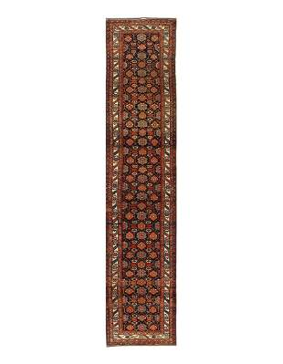 "Antique Persian Hamadan Runner 3'5""x17"