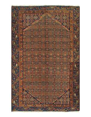 Rust Persian Antique Hamadan 3'11'' X 6'2''