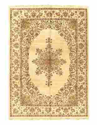 Ivory Fine Persian Tabriz Design 8' X 11'