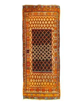 Vintage Moroccan Rug 4'4'' X 11'8''