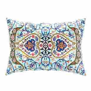 Persian Tile Velvet Pillow 16' X 24'
