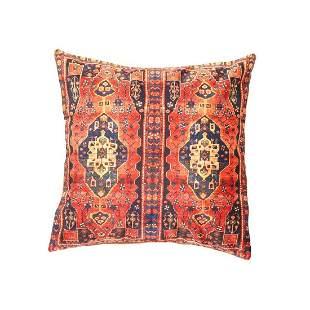 Heriz Design Velvet Pillow 16' X 16'