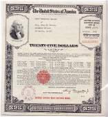$25 US War Savings Bond Series E Oct. 1943