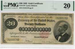 1882 $20 Gold Certificate