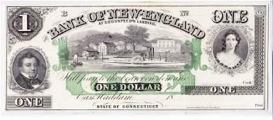 1850s $1Broken Bank Note Goodspeed's Landing, CT, CU