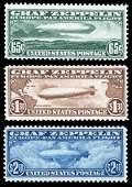 1930 Airmail Zeppelin Set Complete Scott C13-C15 $1315
