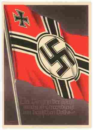 WWII Nazi Era Postcards and Ephemera Group of 2