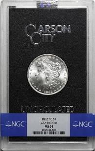 1882-CC Morgan $1 NGC MS-64