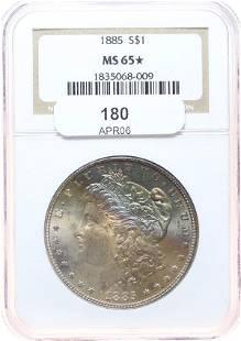 1885 Morgan $1 NGC MS-65