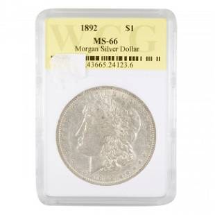 1892 Morgan $1 WCG MS-66