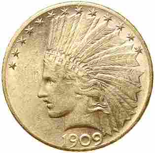 1909-S $10 Gold Indian