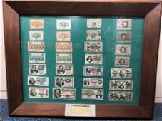 US. Fractional Currency Framed Display