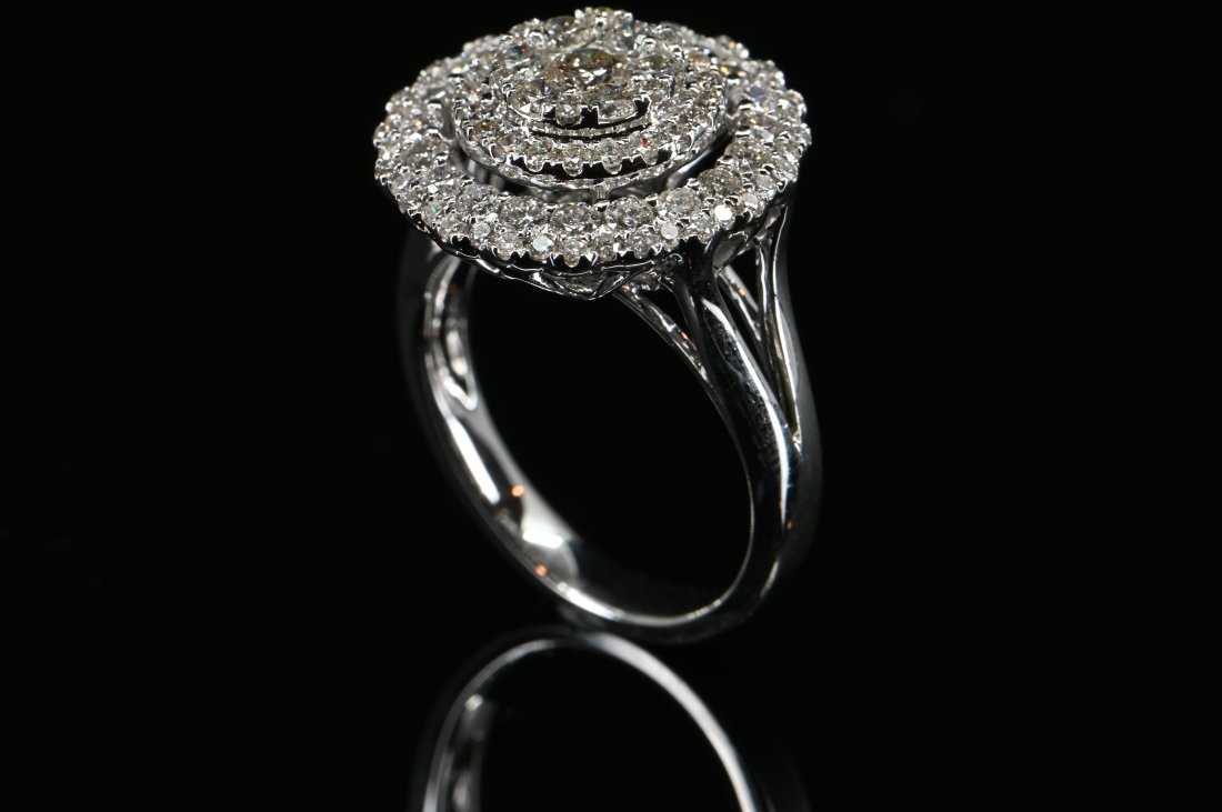 1.41CTW Certified Diamond Double Float Cathedral Ring