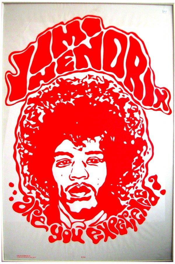 1: Original vintage Jimi Hendrix black light poster