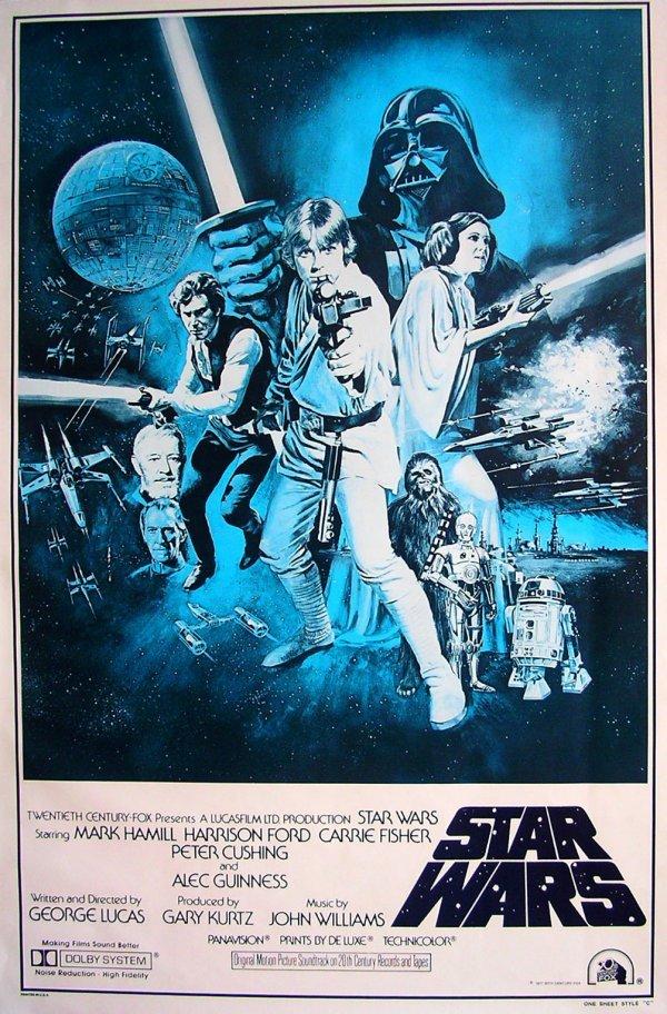 4: Movie Poster: Star Wars 1977 mis-print