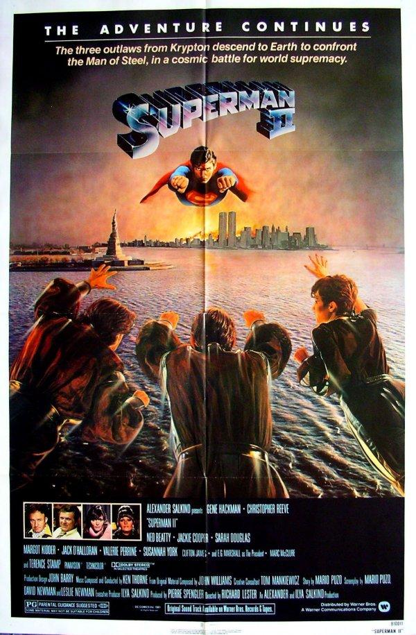 16: Movie Poster: Superman II advance 1981