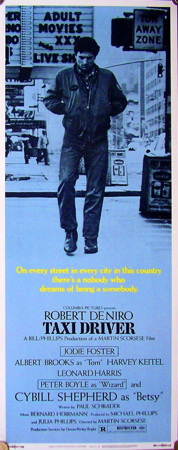 """164: Movie Poster: Taxi Driver """"B"""" insert"""