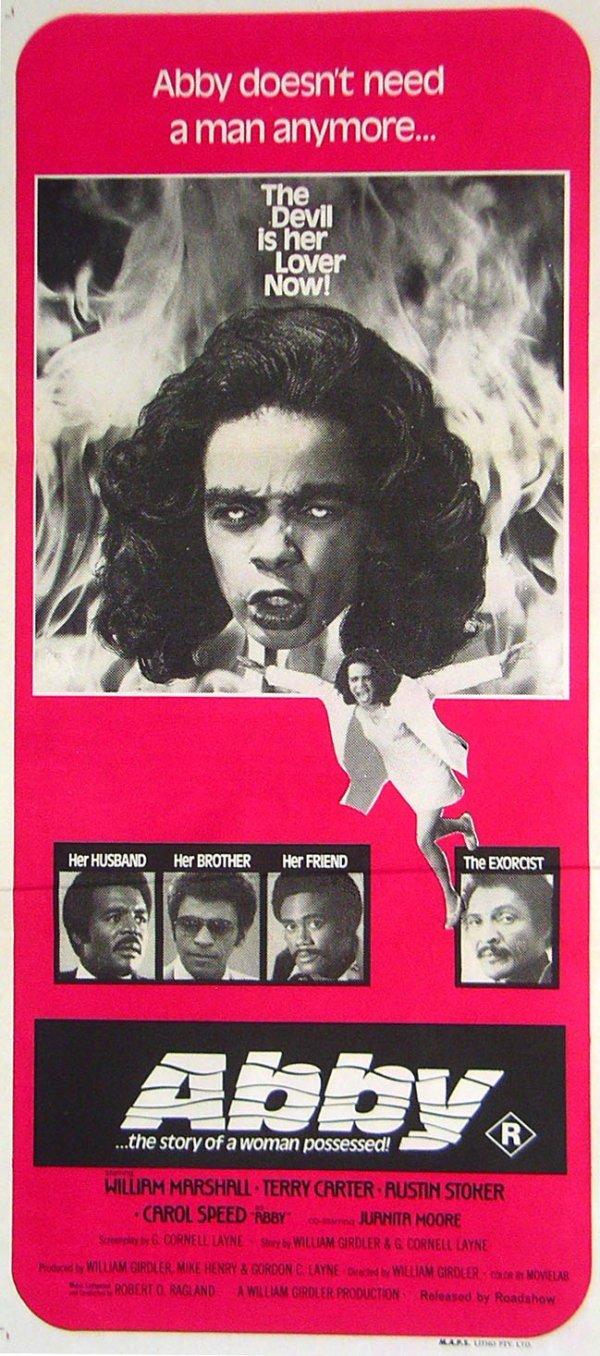 309: Movie Poster: Abby, 1974
