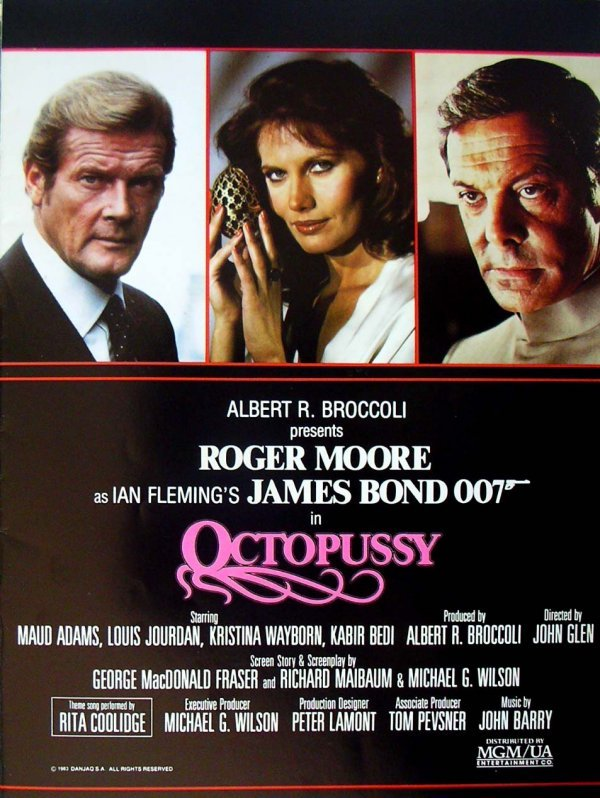 123: Movie Poster: Bond, Octopussy book - 2