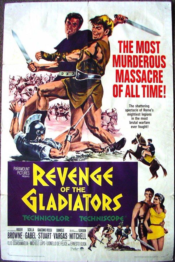 1021: Movie Poster: Revenge of the Gladiators 1965